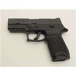 "Sig Sauer Model P250 DA semi-automatic  pistol, 9mm Para. caliber, 4"" barrel, black  finish, S/N EAU"