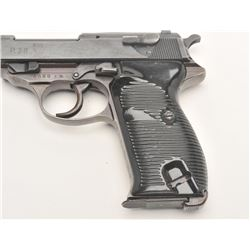 "German P-38 semi-automatic pistol, ac  44-marked, 9mm caliber, 4.75"" barrel,  military finish, black"