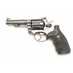 "Smith & Wesson Model 15-2 DA revolver, .38  S&W Special caliber, 4"" barrel, blued finish,  Pachmayr"