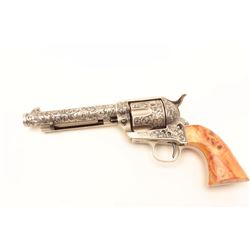 U.S. Firearms Mfg. Co. copy of a Colt SAA  revolver, expertly and extensively engraved  by Aarron Pu
