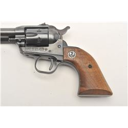 "Ruger Single-Six revolver, .22 caliber, 6.5""  barrel, blued finish, wood medallion grips,  S/N D5043"