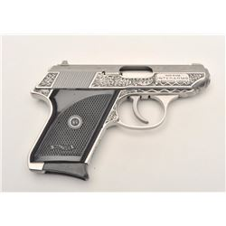 """Interarms under Walther license Model TPH  engraved semi-automatic pistol, .22LR  caliber, 2.75"""" bar"""