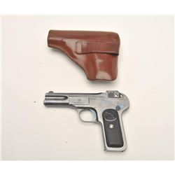 "Browning Model 1899 semi-automatic pistol,  .32 ACP caliber, 4"" barrel, blued finish,  scarce early"