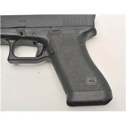 "Glock Model 17 semi-automatic pistol, 9mm  caliber, 4.5"" barrel, mat black finish,  integral laser,"