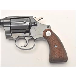 "Colt Police Positive Special DA revolver, .38  Special caliber, 4"" barrel, blued finish,  checkered"