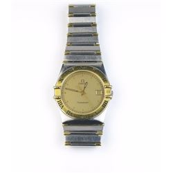 Nice Gents Omega Constellation watch in 18  karat yellow gold and stainless steel has  been overhaul
