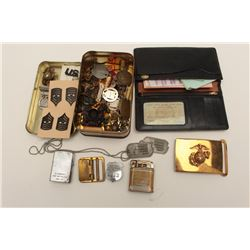 Personal effects and insignia belonging to  Master Sergeant Charles M. Thomson, USMC,  serial #83230