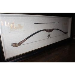 Twentieth Century Chinese bow made in ancient  style; fantastic frame and mat; cost over  $700 twent