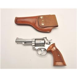 "Smith & Wesson Model 66-1 DA revolver, .357  Magnum caliber, 4"" barrel, stainless,  checkered wood m"