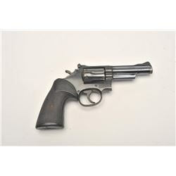 """Smith & Wesson Model 19-4 DA revolver, 4""""  barrel, blued finish, Pachmayr checkered  rubber grips, S"""