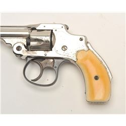 "Smith & Wesson First Model Safety Hammerless  DA revolver, .32 caliber, 3"" barrel, nickel  finish, i"