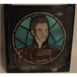 "Iron framed Duke of Wellington pub sign,  approximately 25"" x 25"" overall; a great  decorator for an"