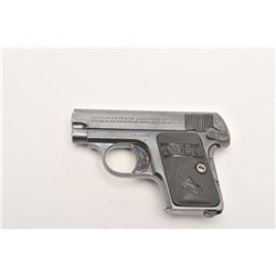 "Near mint Colt Model 1908 Pocket  semi-automatic pistol, .25 caliber, 2""  barrel, blued and case har"