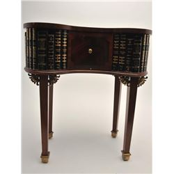 """Modern Maitland Smith library table,  approximately 25"""" in height, 24"""" wide and 14""""  deep with pull"""