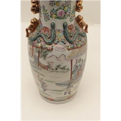 "Large antique Chinese floor vase,  approximately 27"" in height, very good  condition and finely acco"