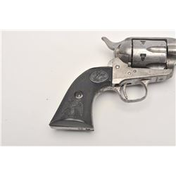 Cimarron by Uberti SAA revolver, .45 caliber,  Serial #C014625.  The pistol is in good  overall cond