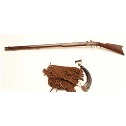 International Arms Inc. flintlock Kentucky  style rifle in .44 caliber black powder only  and made i