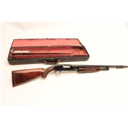 "Winchester Model 12 Skeet takedown pump  action shotgun, 12 gauge, 22"" barrel with  Cutts compensato"