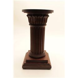 "Vintage pedestal for bronze with wide top.  Heavy construction. Measures 28"" in height.  Est.: $150-"
