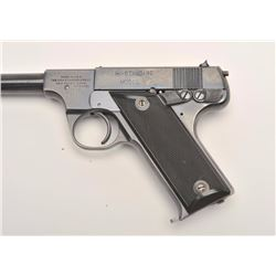 Hi Standard Model B semi-auto pistol, .22  Long Rifle caliber, Serial #28439.  The  pistol is in ver