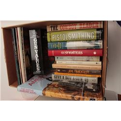 Great lot of approximately 30 mostly hardback  reference books on guns, the West,  gunfighters, West