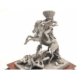 """Pewter sculpture by Donald Polland and issued  by Chilmark Collectors Society entitled  """"Counting Co"""
