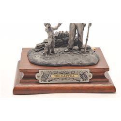 """Pewter sculpture by Fran Barnum and issued by  Chilmark Collectors Society entitled """"A  Father's Far"""