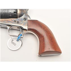Custom modern black powder reproduction  percussion revolver, .44 caliber, Serial  #93866.  The pist