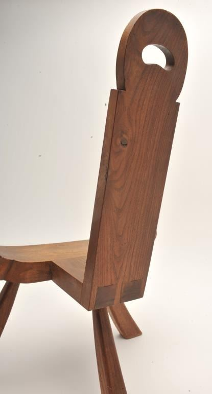 ... Image 4 : Antique (ca. late 1800's) wooden birthing chair;  approximately 29 ... - Antique (ca. Late 1800's) Wooden Birthing Chair; Approximately 29