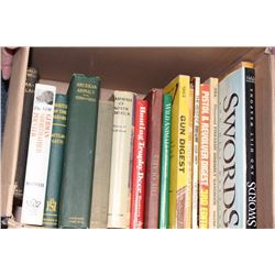Misc. Book lot including books on Hunting,  Auto Biographies and other misc. subjects.  Est:$50-100