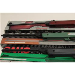 Lot of 3 pellet rifles including a Gamo Ducks  Unlimited in factory cardboard box with  green compos