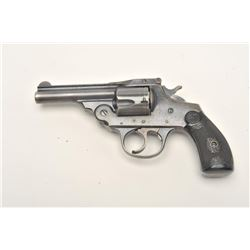 "Iver Johnson top break DA revolver, .38  caliber, 3.25"" barrel, blued finish,  checkered hard rubber"