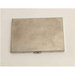 Volurte silver cigarette case, 140 grams  weight.     Est.:  $75-150