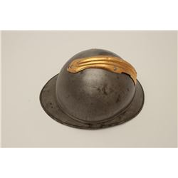 Nineteenth to early Twentieth Century  Fireman's metal helmet.      Est.:  50-100