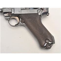 DWM Luger semi-auto pistol, 9mm caliber,  Serial #8072.  The pistol is in good overall  condition wi