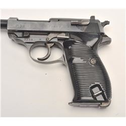 Scarce Nazi marked Walther P-38 semi-auto  pistol, 9mm caliber, Serial #1235C.  The  pistol is in ve