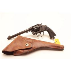 Colt New Service revolver, .44-40 caliber,  Serial #475.  The pistol is in fair overall  condition w