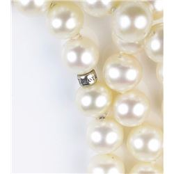 Incredible ladies 'TIFFANY' natural Pearl  strand of 80 inches in length averaging 8.00  MM in diame