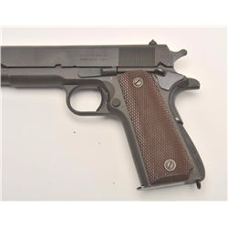 Remington Rand 1911 A1 semi-auto pistol, .45  caliber, Serial #1291738.  The pistol is in  excellent