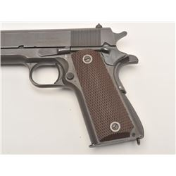"United States Property marked Model 1911A-1  semi-automatic pistol by Remington, .45  caliber, 5"" ba"