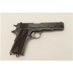 Colt Model 1911 semi-automatic pistol, in  scarce .455 caliber, British War Dept. marked  and Britis