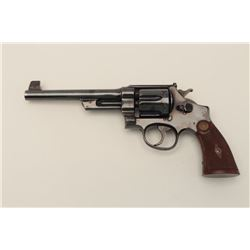 """Smith and Wesson 1st Model Hand Ejector  """"Target"""" revolver, .44 S&W Special caliber,  Serial #2697."""