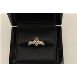 Over 2 ct Fancy Color Marquis cut Diamond  mounted in 14k. Vintage Estate piece should  appraise $9,