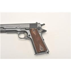"Colt U.S. Property Model 1911 semi-automatic  pistol, .45 caliber, 5"" barrel, black finish,  checker"