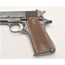 "Star Model B semi-automatic pistol, nazi  marked, 9mm caliber, 5"" barrel, blued finish,  checkered w"
