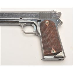 "Colt Model 1905 semi-automatic pistol, .45  caliber, 5"" barrel, blued finish, checkered  wood grips,"