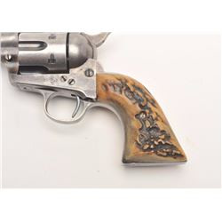 "Colt SAA revolver, .38 W.F.C. caliber, 4.75""  barrel, blued and case hardened finish, thick  stage g"