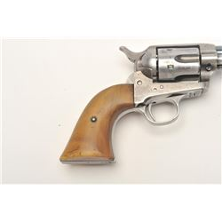 """Colt SAA revolver, .32 W.C.F. caliber, 5.5""""  barrel, blued finish, thick horn grips, S/N  197998, in"""