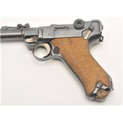 "German 1917 DWM Artillery Model Luger  semi-automatic pistol, 9mm caliber, 8""  barrel, military blue"