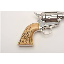 """Colt SAA revolver, .32 W.C.F. caliber, 5.5""""  barrel, old re-nickel finish, stag grips, S/N  274289,"""